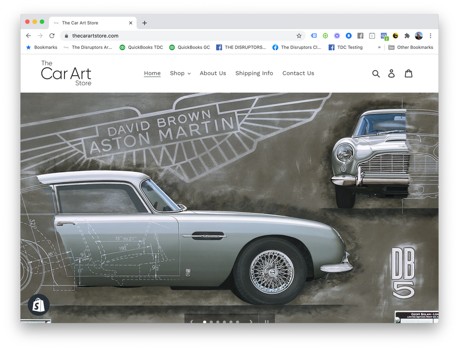 The Car Art Shopify Store