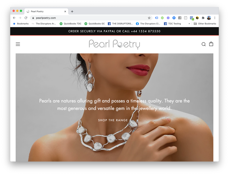 Pearl Poetry Shopify Store