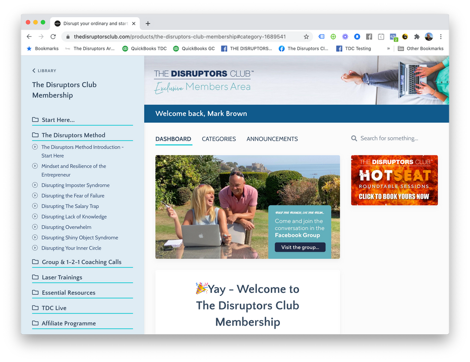 Kajabi Membership Site Dashboard