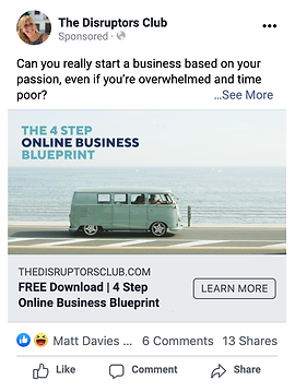 Facebook Ad by Great Circle Advertising.