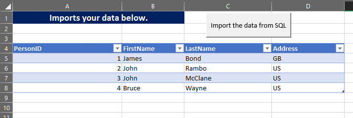 export sql table to excel