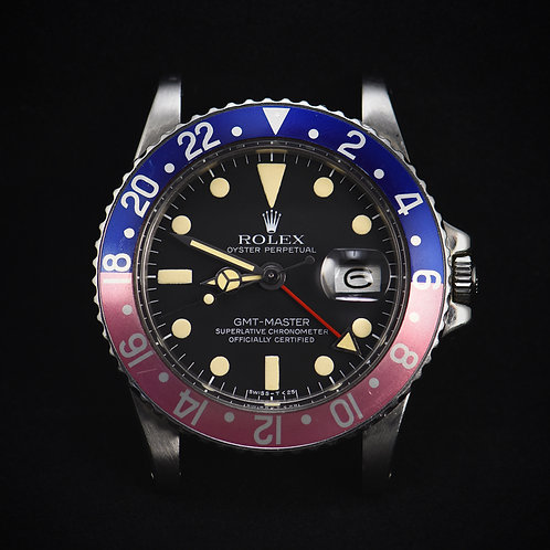 1978 Rolex 1675 GMT Master MKV Dial Faded Insert.