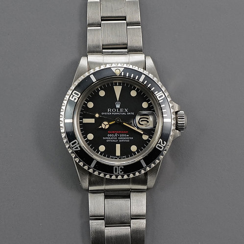 1973 Rolex Red Submariner 1680 MKIV Dial.