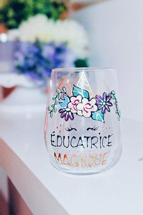 Verres à vin Éducatrice magique