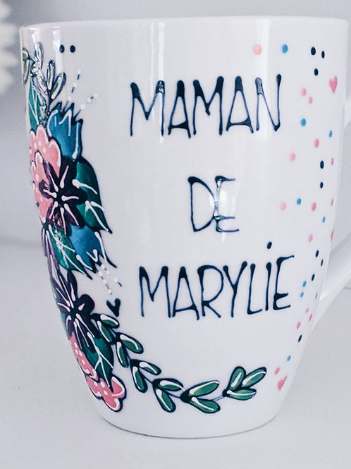 Tasse à personnaliser : Maman de...