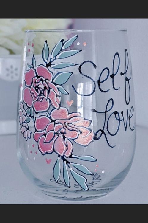 """Verre à vin """"Self Love"""""""
