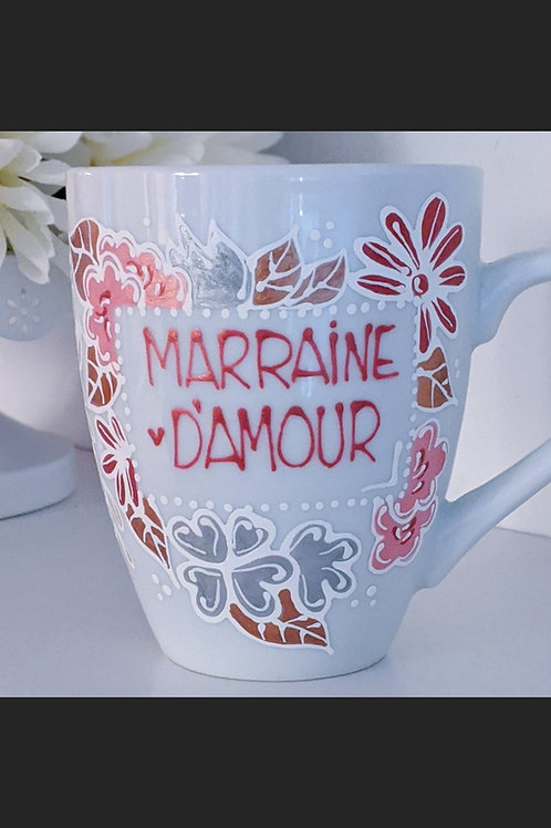 """Tasse """"Marraine d'amour"""""""