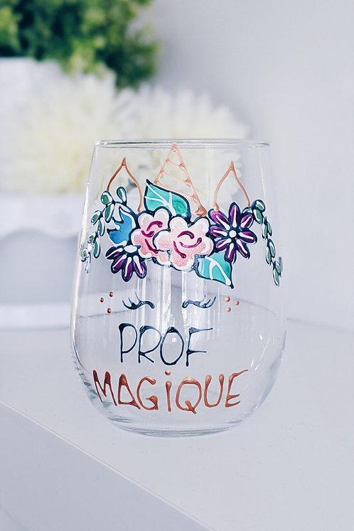 Verres à vin Prof magique
