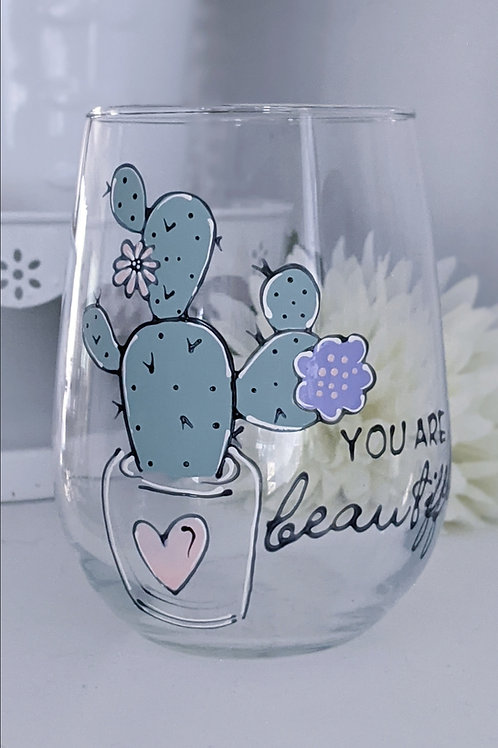 """Verre """" You are beautiful """""""