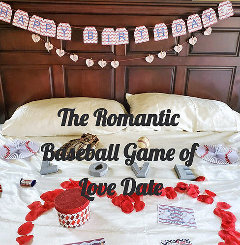 The Baseball Game of Love Bedroom Game date that is sent to you, gift for his birthday,  Romantic Baseball gift for him