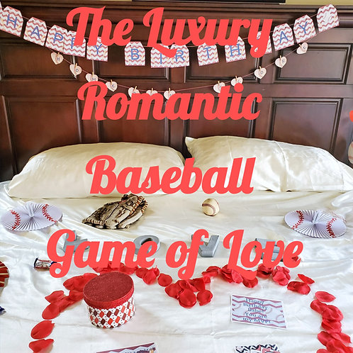 The Luxury Baseball Game of Love Bedroom Game Date that is set up for you in SLC and UT county,   Romantic Baseball  gift