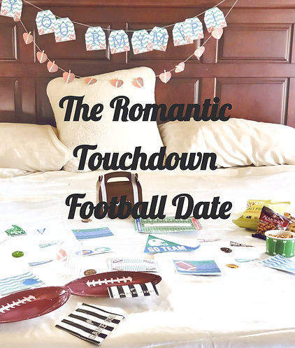 The Touchdown Football Bedroom Game Date that is sent to you, gift for his birthday,  Romantic Football gift for him