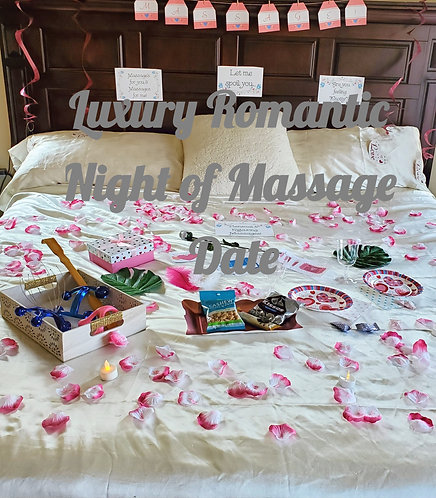 Luxury Night of Massage bedroom Game Date that is all done for you to spoil couples with a night of romance! SLC & UT County