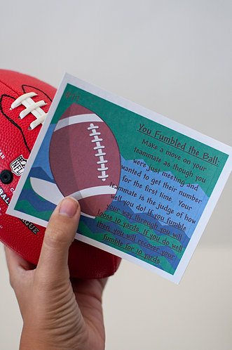 The Touchdown Football Bedroom Game Gift, DIY gift for his birthday,  Romantic Football gift for him