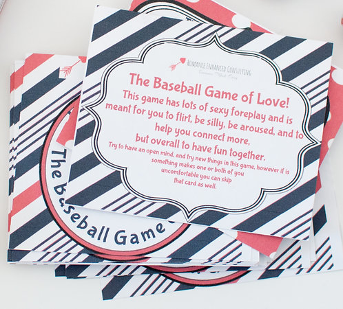 The Baseball Game of Love Bedroom Game Gift that is sent to you, gift for his birthday, DIY Romantic Baseball gift for him