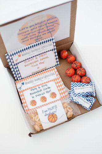 The Flirty & Dirty Bedroom Game to spoil couples with a night of romance and fun, gift for his birthday, Basketball gift