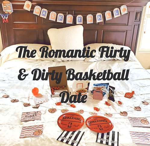 The Flirty & Dirty Bedroom Game Date that is sent to you, gift for his birthday,   Romantic Basketball gift