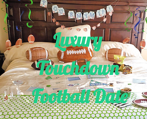The Luxury Touchdown Football Bedroom Game date that is all done for you in SlC and UT County  Romantic Football gift for him