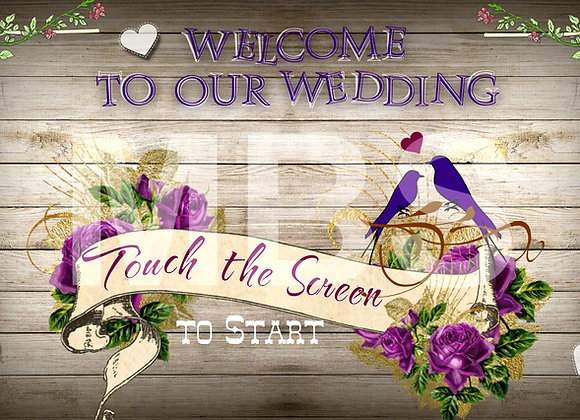 Rustic Wedding Start Screen