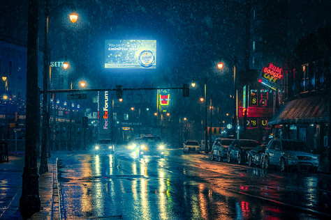 Snow Night - Memphis Tennessee Photography
