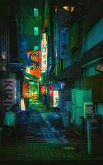 Ghost Alley - Tokyo Night Photography