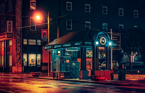 Trolley Station - Memphis Photography