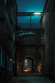 Alleyway with Artificial Moon