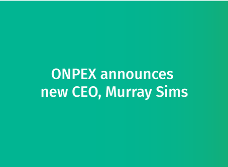 Appointment of Murray Sims as new CEO of ONPEX