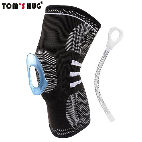 Silicon Meniscus Spring Knee Pads Support Patella Protector Sleeve Knee Brace