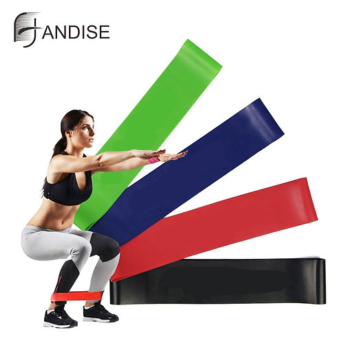 Latex Resistance Bands Fitness Set Rubber