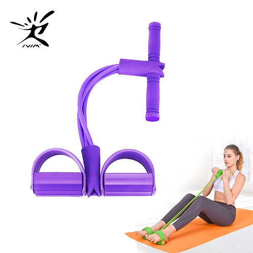 Fitness Gum 4 Tube Resistance Bands Latex Pedal Exerciser Yoga Gym Equipment