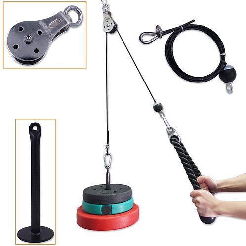 Fitness Pulley Cable System DIY Loading Pin Lifting Triceps Rope