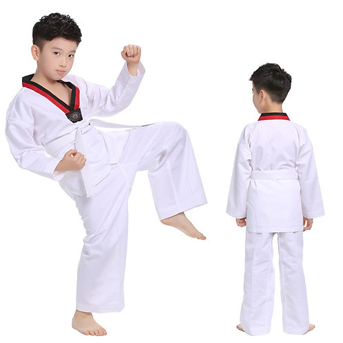 Taekwondo Uniforms Karate Judo Dobok Clothes Children Adult Unisex Long Sleeve