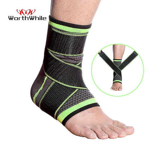 Ankle Brace Strap Sleeves Support Elastic Bandage Foot Protective Gear for Gym