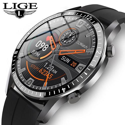 LIGE 2021 New Smart Watch  Touch Screen Sport Fitness  IP68 Waterproof Bluetooth