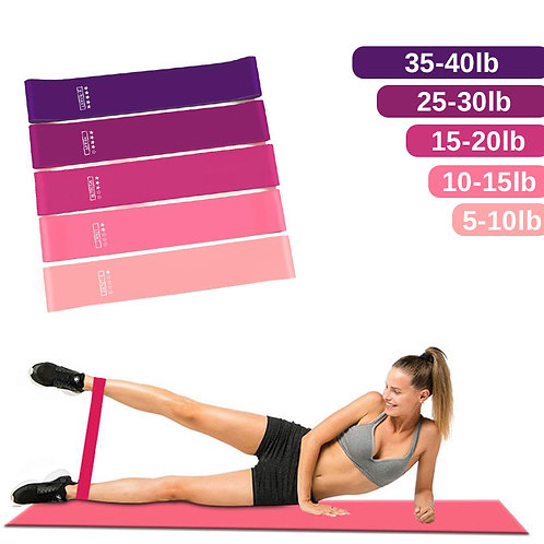 Workout Resistance Bands Latex Elastic Fitness 4 Sports  Training  Gym Equipment
