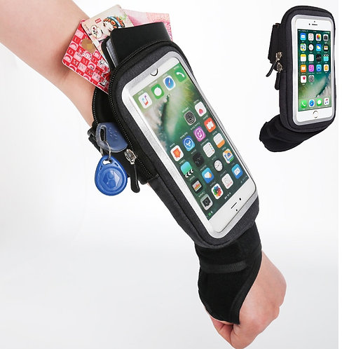 Haissky Wrist Bag Arm Band Cell Phone Case Hand Outdoor Gym Belt Bags Pouch