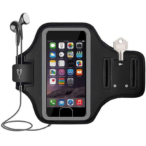 Water Resistant Cell Phone Armband Case With Key Holder for Gym