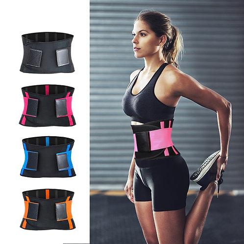 Adjustable Waist Back Support Trimmer Sweat Belt, Slimming