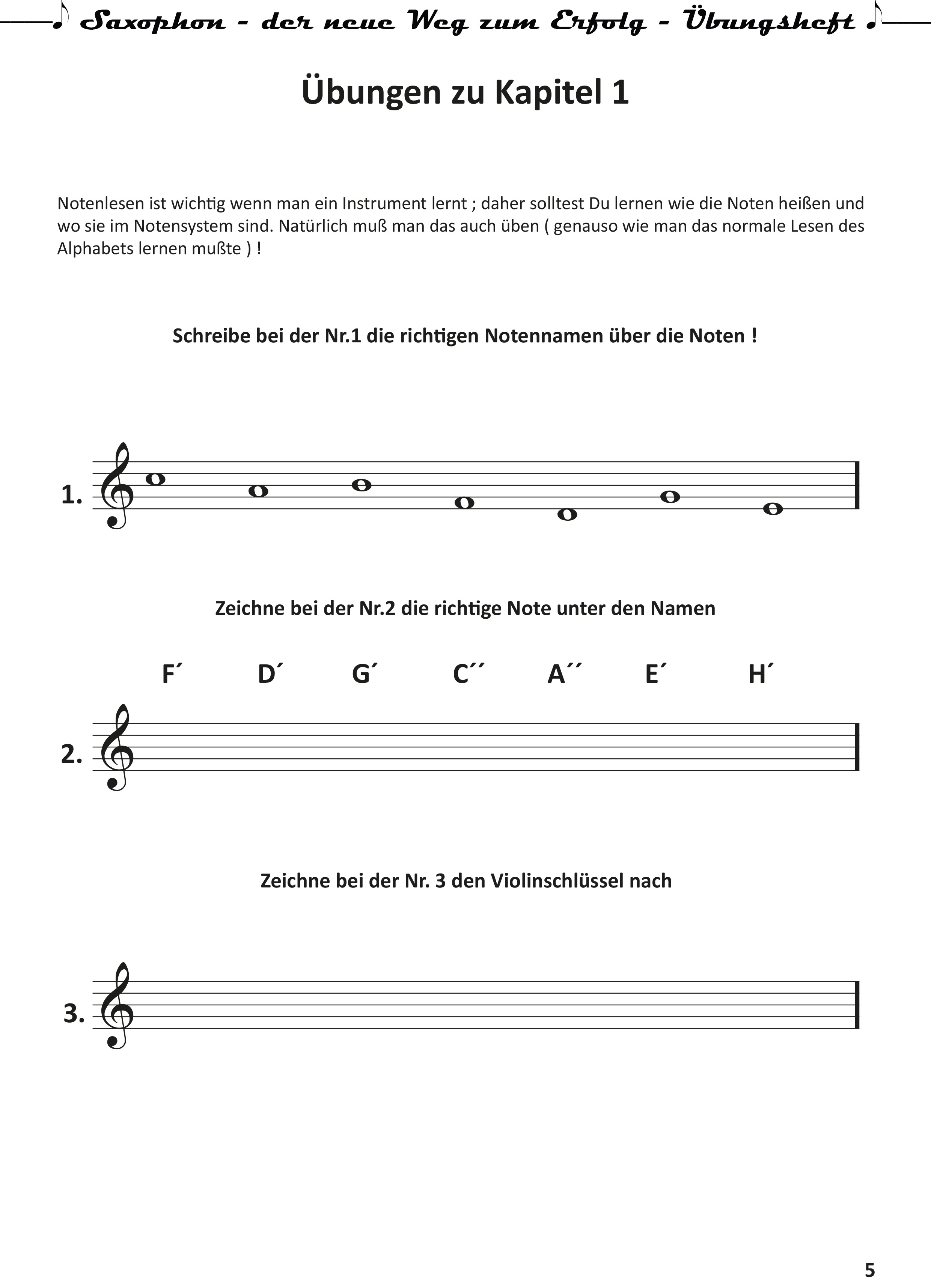 Saxophon-der neue Weg zum Erfolg- Uebungsheft-5