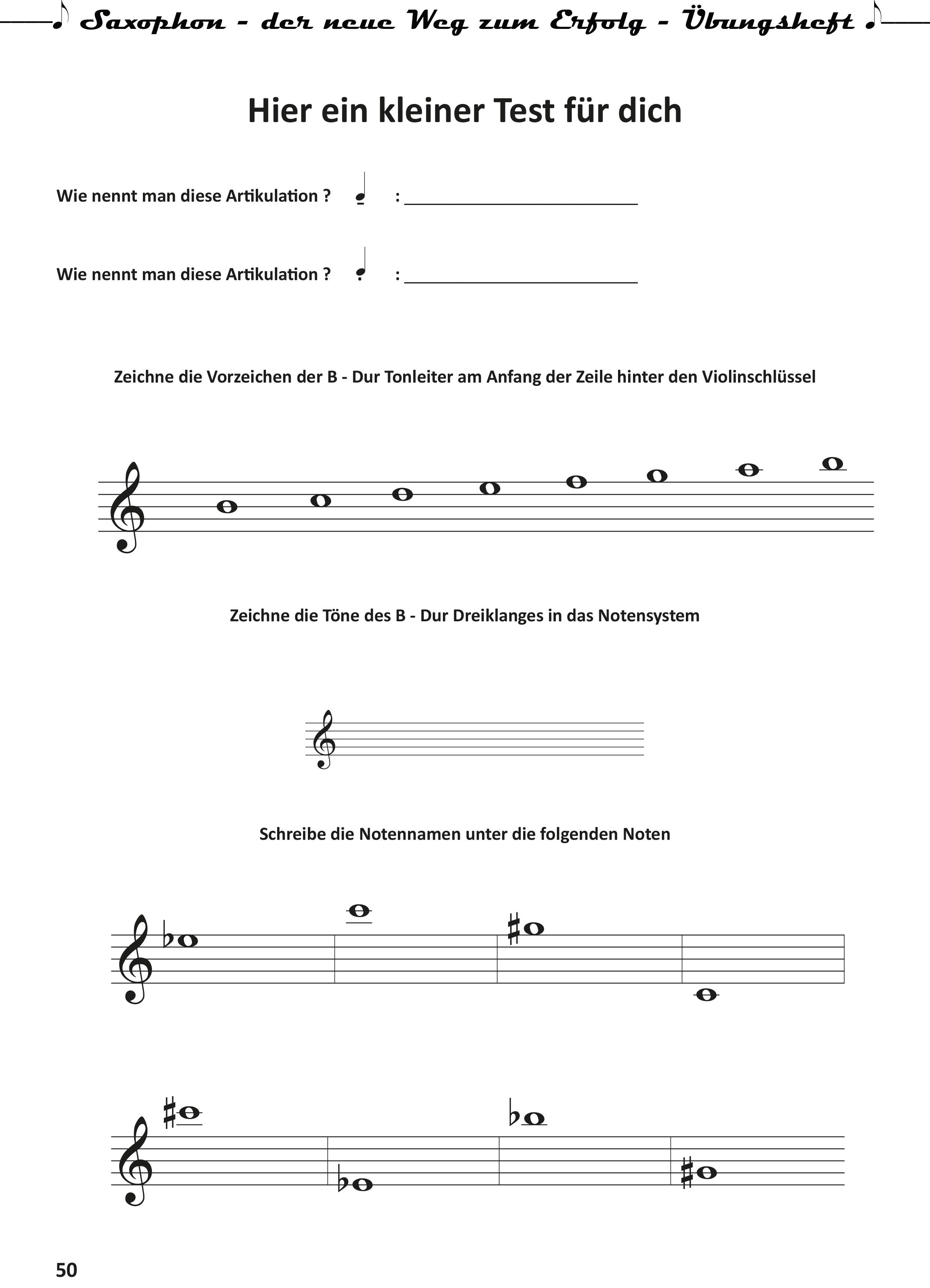 Saxophon-der neue Weg zum Erfolg- Uebungsheft-50