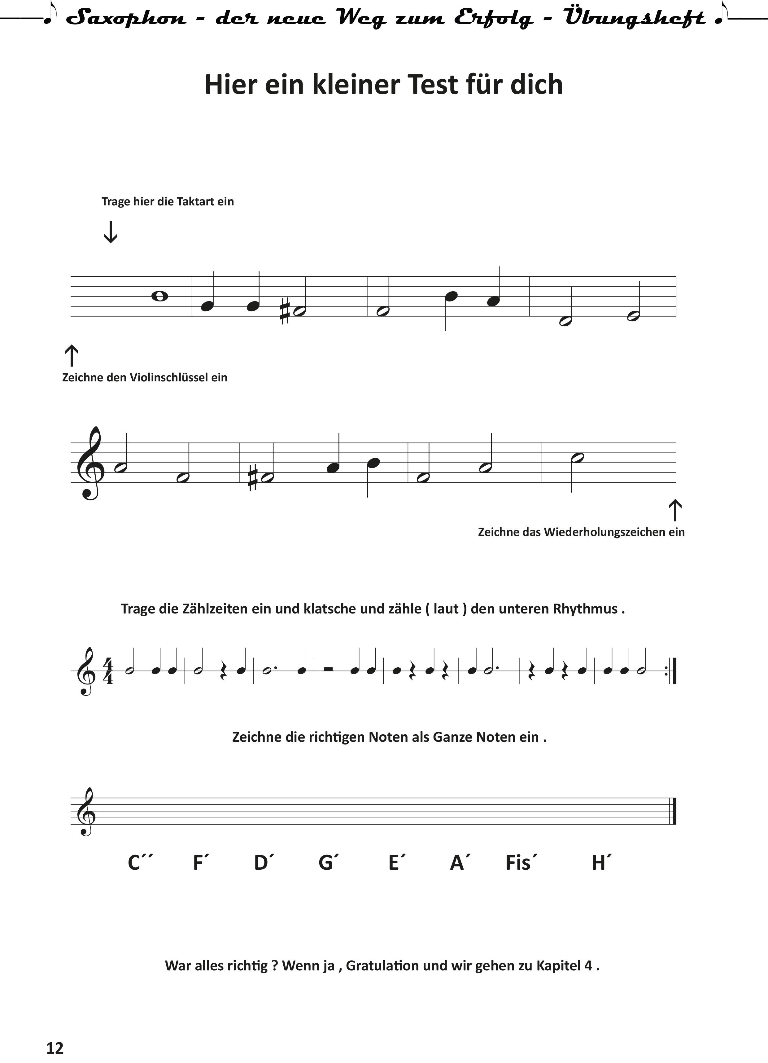 Saxophon-der neue Weg zum Erfolg- Uebungsheft-12