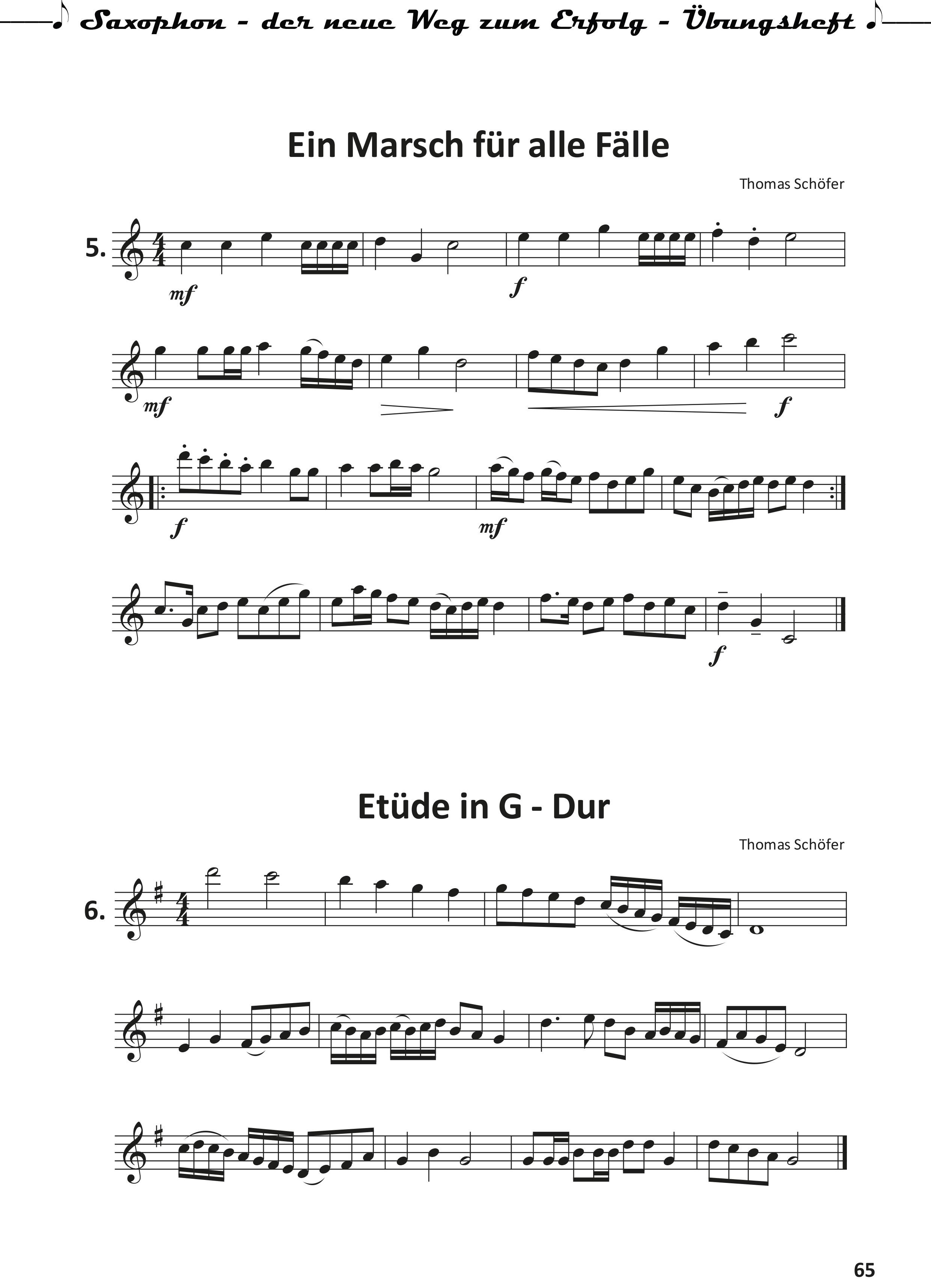 Saxophon-der neue Weg zum Erfolg- Uebungsheft-65