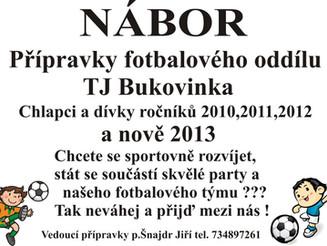 Celoroční nábor fotbalové přípravky !