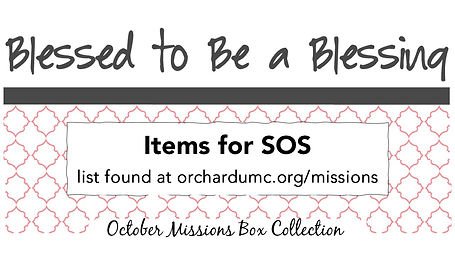 blessed to be a blessing missions box -