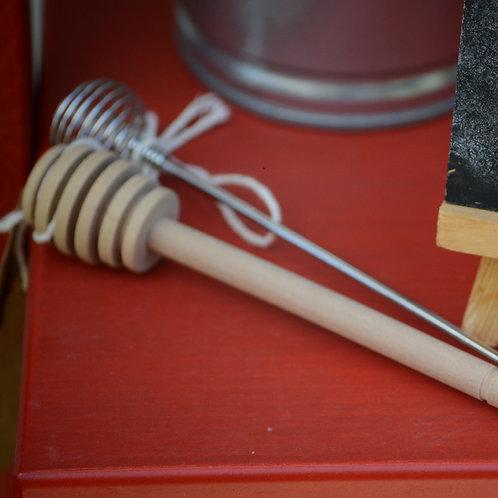 Wooden honey twirler