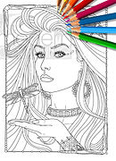 Glamourista Coloring Book. Screen Siren.