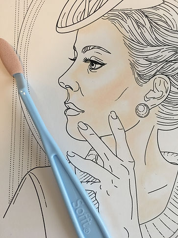 Glamourista Adult Coloring Book Free Sample Page