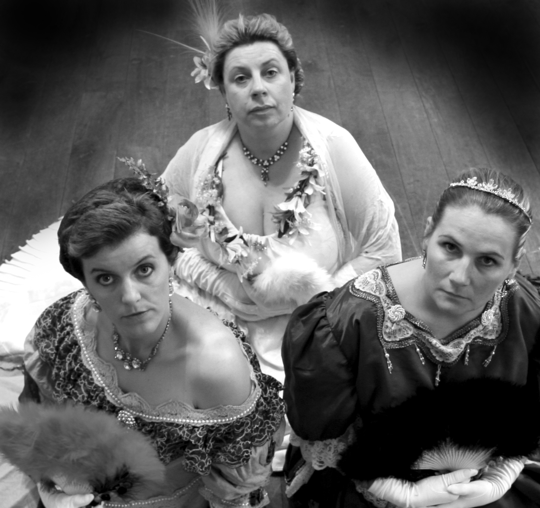 3 women close up Playing Dead Murder Mystery.jpg