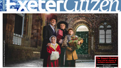 On the cover of The Exeter Citizen